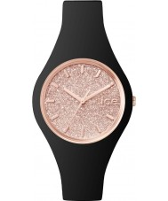 Ice-Watch ICE.GT.BRG.S.S.15 Ladies Ice-Glitter Black Silicone Strap Small Watch