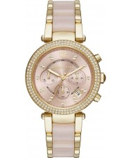 Michael Kors MK6326 Ladies Mini Parker Two Tone Steel Chronograph Watch