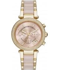 Michael Kors MK6326 Ladies Mini Parker Two Tone Steel Chronograph Watch