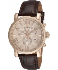 S Coifman SC0302 Mens Brown Leather Chronograph Watch