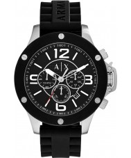 Armani Exchange AX1522 Mens Urban Black Silicone Chronograph Watch