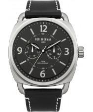 Ben Sherman WB006B Mens All Black Leather Strap Watch