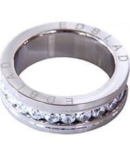 Edblad 760020 Ladies Saturnus Clear Steel Ring - Size N (S)