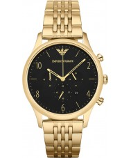 Emporio Armani AR1893 Mens Classic Chronograph Gold Plated Link Bracelet Watch