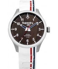 Superdry Ladies Scuba Ski White Silicone Strap Watch