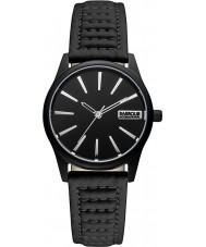 Barbour BB010BKBK Ladies Bewick Black Leather Strap Watch