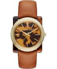 Michael Kors MK2484 Ladies Kempton Brown Leather Strap Watch