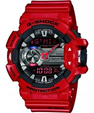 Casio Mens G-Shock Bluetooth World Time Red Resin Strap Combi Watch