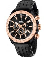 Festina F16899-1 Mens Prestige Black Leather Chronograph Watch