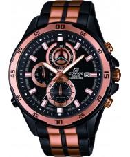 Casio EFR-547BKG-1AVUEF Mens Edifice Black Rose Gold Steel Bracelet Watch