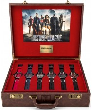 Police 14536JS-SET Mens Justice League Heroes Watch Gift Set
