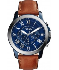 Fossil FS5151 Mens Grant Brown Leather Chronograph Watch
