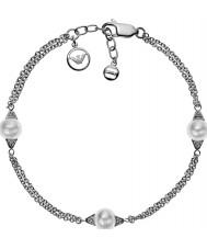Emporio Armani EG3286040 Ladies Deco Pearls Sterling Silver Bracelet