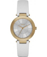 DKNY NY2295 Ladies Stanhope 2.0 Matte White Leather Strap Watch