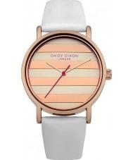 Daisy Dixon DD009WRG Ladies Poppy Rose Gold White Leather Strap Watch