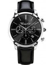 Thomas Sabo WA0242-218-203-42mm Mens Eternal Black Leather Chronograph Watch