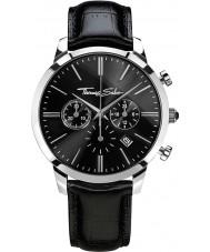 Thomas Sabo WA0242-218-203-42mm Mens Eternal Black Leather Chronograph Watch