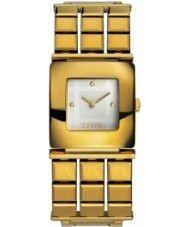 Mango QM161-74-01 Ladies Gold Cream Watch