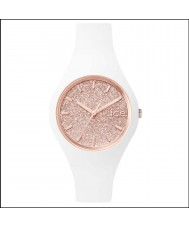 Ice-Watch ICE.GT.WRG.S.S.15 Ladies Ice-Glitter White Silicone Strap Small Watch
