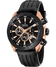 Festina F16900-1 Mens Prestige Black Leather Chronograph Watch