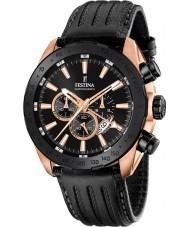 Festina F16900-1 Mens Prestige Black Leather Chronograph Watch