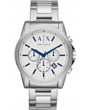 Armani Exchange AX2510 Mens Dress Silver Steel Chronograph Watch