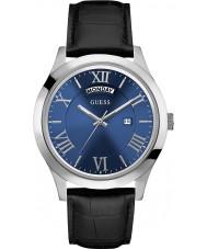 Guess W0792G1 Mens Metropolitan Black Leather Strap Watch