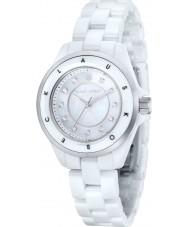 Klaus Kobec KK-10004-01 Ladies Luna Steel and White Ceramic Watch