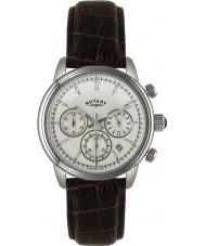 Rotary GS02876-06 Mens Timepieces Monaco Ivory Brown Chronograph Sports Watch