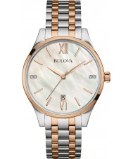 Bulova 98S150 Ladies Diamond Two Tone Steel Bracelet Watch