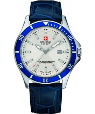 Swiss Military 6-4161-2-04-001-03 Mens Flagship Blue Leather Strap Watch