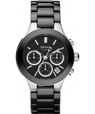 DKNY NY4914 Ladies Chambers Black Ceramic Chronograph Watch