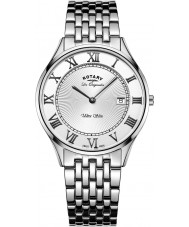 Rotary GB90800-01 Mens Ultra Slim Silver Steel Bracelet Watch
