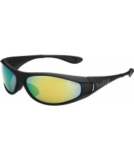 Bolle Spiral Matt Black Polarized Brown Emerald Sunglasses