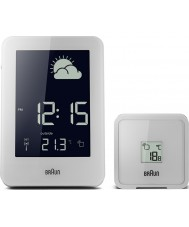 Braun BNC013WH-RC Radio Controlled Weather Station Clock - White