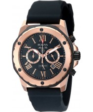 Bulova 98B104 Mens Marine Star Black Rubber Strap Chronograph Watch