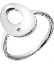 Hot Diamonds Ladies Emerge Silver Open Oval Ring