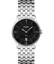 Rotary GB08200-04 Mens Ultra Slim Black Steel Watch
