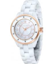 Klaus Kobec KK-10004-02 Ladies Luna Rose Gold and White Ceramic Watch