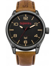 Superdry SYG200TB Military Tan Leather Strap Watch