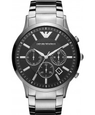 Emporio Armani AR2460 Mens Classic Chronograph Black Silver Watch