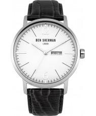 Ben Sherman WB046B Mens Big Portobello Proffesional Black Leather Strap Watch