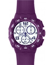 Swatch SUIV400 Chrono Plastic - Purple Funk Watch