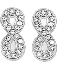 Thomas Sabo H1877-051-14 Ladies Zirconia Pave Infinity Silver Stud Earrings