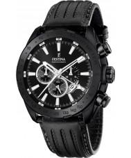 Festina F16901-1 Mens Prestige Black Leather Chronograph Watch