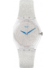 Swatch GE250 Snowshine Silver Silicone Strap Watch