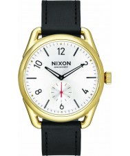 Nixon A459-2226 Mens C39 Gold Black Horween Leather Watch