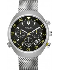 Bulova 96B236 Mens Accutron II Lobster UHF Chronograph Silver Watch