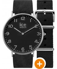 Ice-Watch CHL.A.BAR.36.N.15 Mens Ice-City Watch with Black Nylon and Black Leather Strap Watch