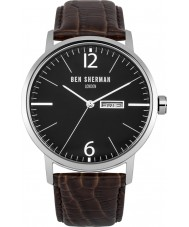 Ben Sherman WB046BR Mens Big Portobello Proffesional Brown Leather Strap Watch